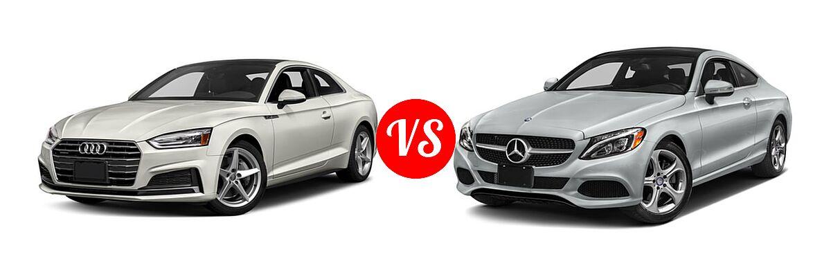 2018 Audi A5 Coupe Premium / Premium Plus / Prestige vs. 2018 Mercedes-Benz C-Class Coupe C 300 - Front Left Comparison
