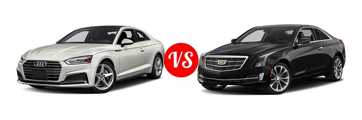 2018 Audi A5 Coupe Premium / Premium Plus / Prestige vs. 2018 Cadillac ATS Coupe Coupe AWD / Luxury RWD / Premium Luxury RWD / Premium Performance RWD / RWD - Front Left Comparison