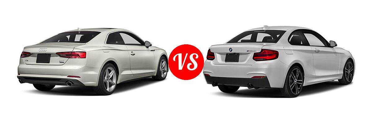 2018 Audi A5 Coupe Premium / Premium Plus / Prestige vs. 2018 BMW 2 Series M240i Coupe M240i - Rear Right Comparison