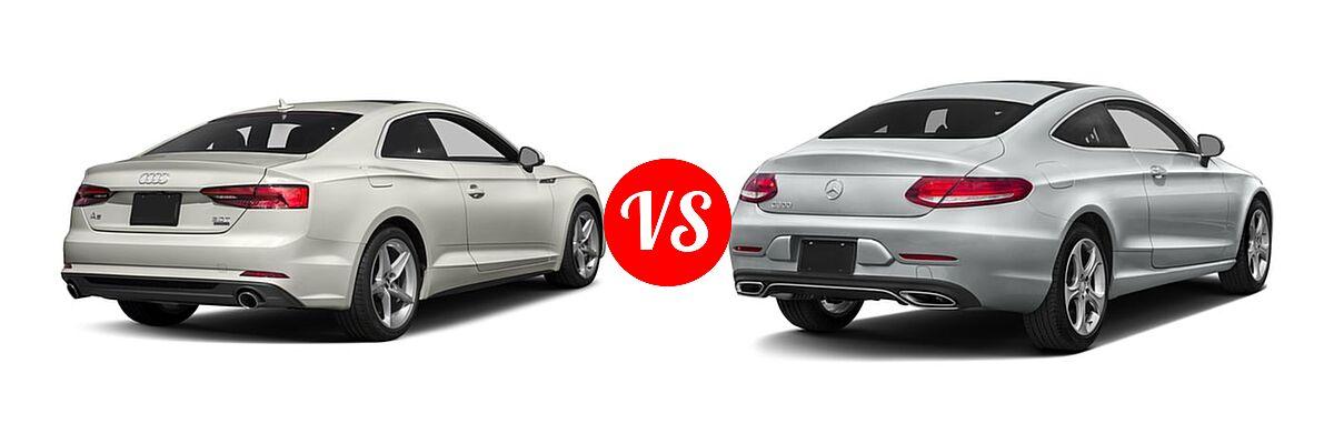 2018 Audi A5 Coupe Premium / Premium Plus / Prestige vs. 2018 Mercedes-Benz C-Class Coupe C 300 - Rear Right Comparison