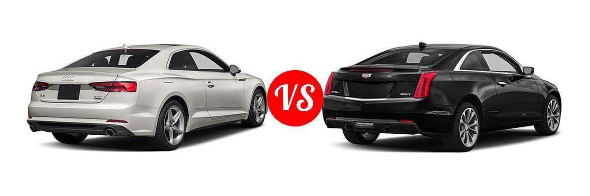 2018 Audi A5 Coupe Premium / Premium Plus / Prestige vs. 2018 Cadillac ATS Coupe Coupe AWD / Luxury RWD / Premium Luxury RWD / Premium Performance RWD / RWD - Rear Right Comparison