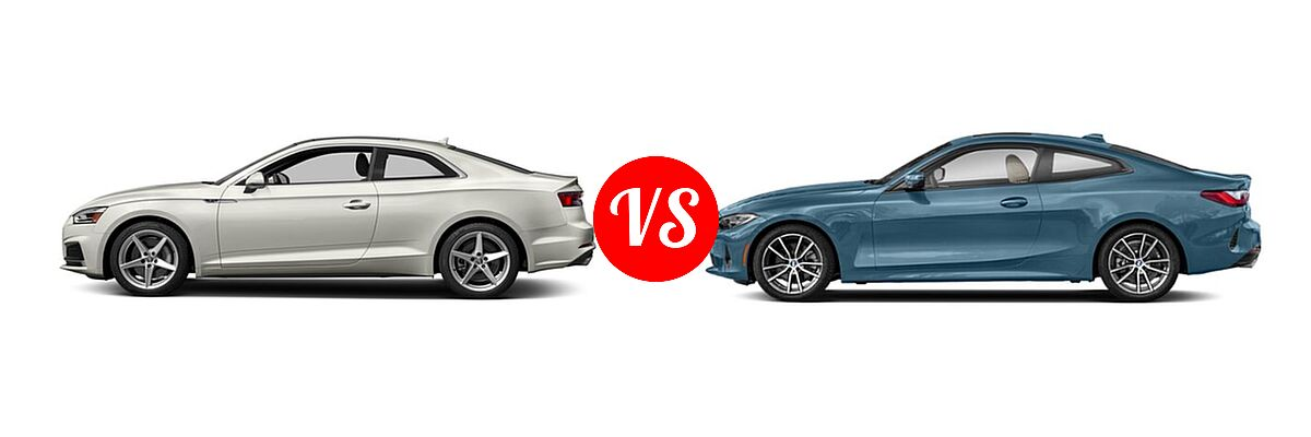 2018 Audi A5 Coupe vs. 2021 BMW 4 Series Coupe - Side Comparison