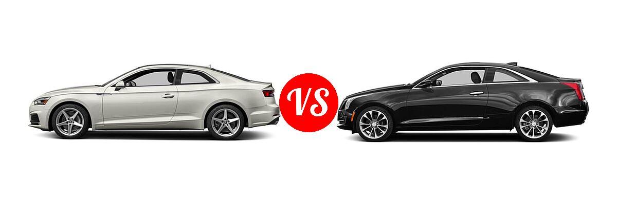 2018 Audi A5 Coupe Premium / Premium Plus / Prestige vs. 2018 Cadillac ATS Coupe Coupe AWD / Luxury RWD / Premium Luxury RWD / Premium Performance RWD / RWD - Side Comparison
