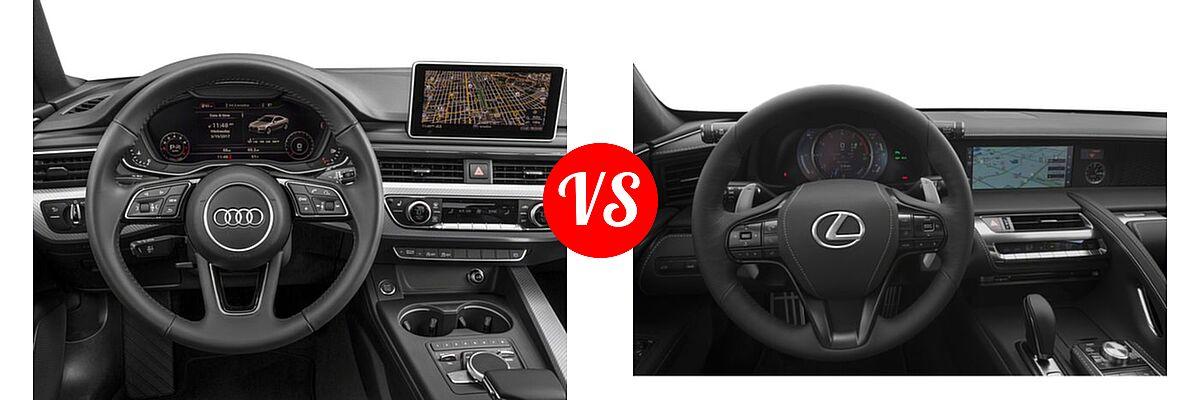 2018 Audi A5 Coupe Premium / Premium Plus / Prestige vs. 2018 Lexus LC 500 Coupe LC 500 - Dashboard Comparison