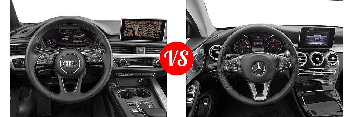 2018 Audi A5 Coupe Premium / Premium Plus / Prestige vs. 2018 Mercedes-Benz C-Class Coupe C 300 - Dashboard Comparison