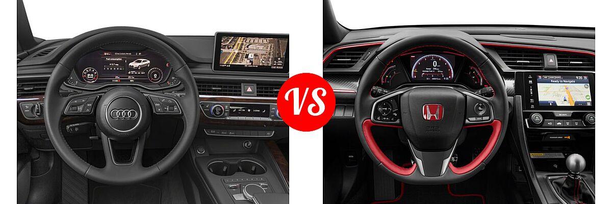 2018 Audi A5 Hatchback Premium / Premium Plus / Prestige vs. 2018 Honda Civic Type R Touring Hatchback Touring - Dashboard Comparison