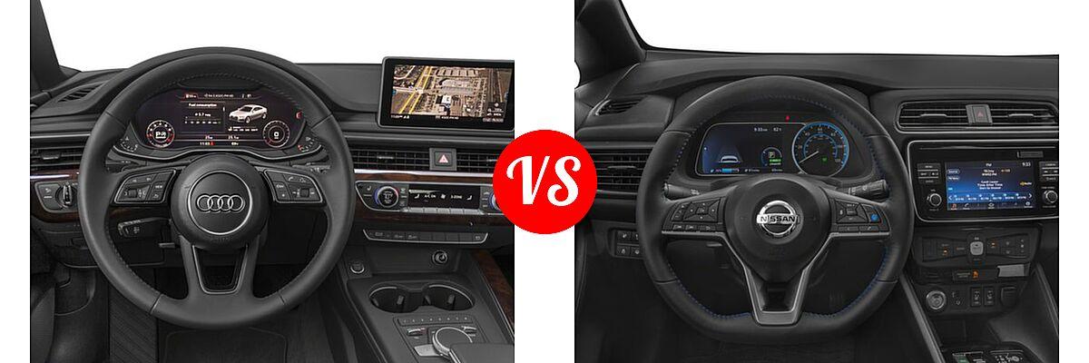 2018 Audi A5 Hatchback Premium / Premium Plus / Prestige vs. 2018 Nissan Leaf Hatchback S / SL / SV - Dashboard Comparison