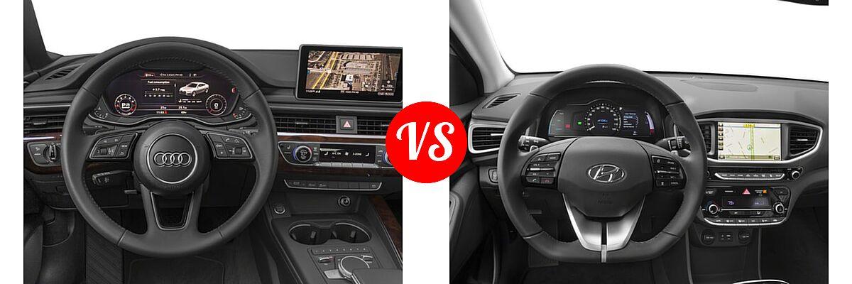 2018 Audi A5 Hatchback Premium / Premium Plus / Prestige vs. 2018 Hyundai Ioniq Electric Hatchback Electric Hatchback / Limited - Dashboard Comparison