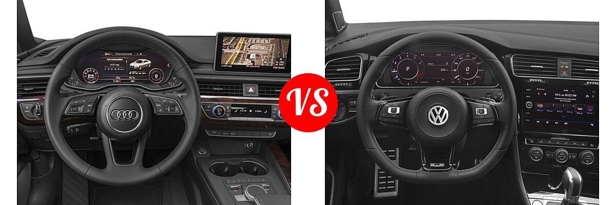 2018 Audi A5 Hatchback Premium / Premium Plus / Prestige vs. 2018 Volkswagen Golf R Hatchback 2.0T DSG w/DCC/Nav / 2.0T Manual w/DCC/Nav - Dashboard Comparison