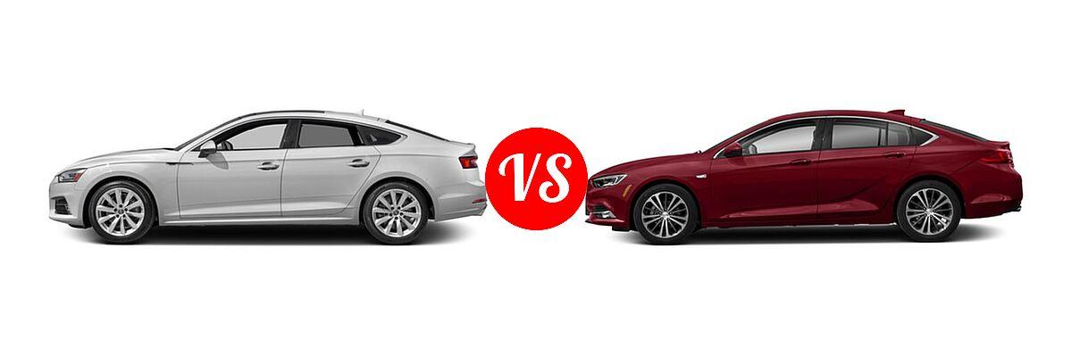 2018 Audi A5 Hatchback Premium / Premium Plus / Prestige vs. 2018 Buick Regal Sportback GS Hatchback 4dr Sdn FWD / Essence / Preferred / Preferred II - Side Comparison