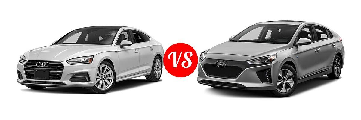 2018 Audi A5 Hatchback Premium / Premium Plus / Prestige vs. 2018 Hyundai Ioniq Electric Hatchback Electric Hatchback / Limited - Front Left Comparison