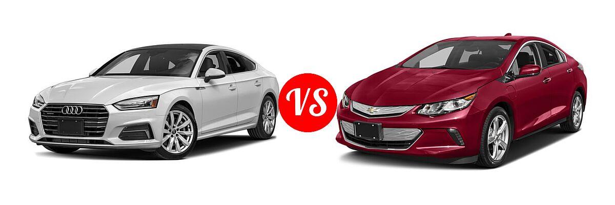 2018 Audi A5 Hatchback Premium / Premium Plus / Prestige vs. 2018 Chevrolet Volt Hatchback LT / Premier - Front Left Comparison
