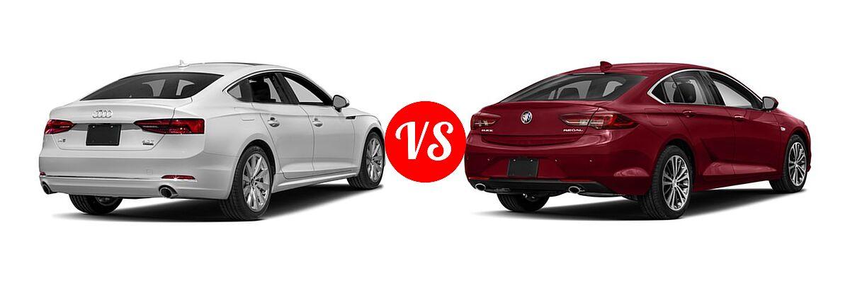 2018 Audi A5 Hatchback Premium / Premium Plus / Prestige vs. 2018 Buick Regal Sportback GS Hatchback 4dr Sdn FWD / Essence / Preferred / Preferred II - Rear Right Comparison