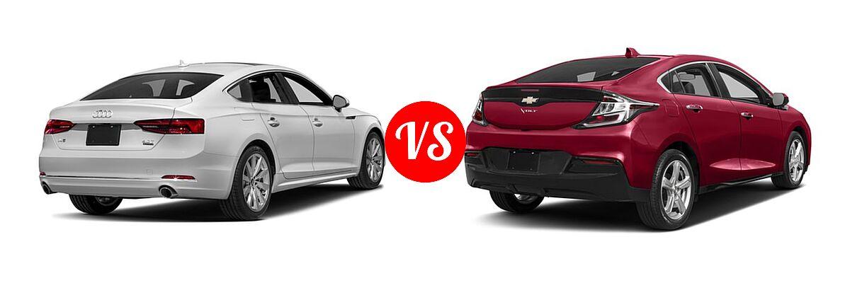 2018 Audi A5 Hatchback Premium / Premium Plus / Prestige vs. 2018 Chevrolet Volt Hatchback LT / Premier - Rear Right Comparison