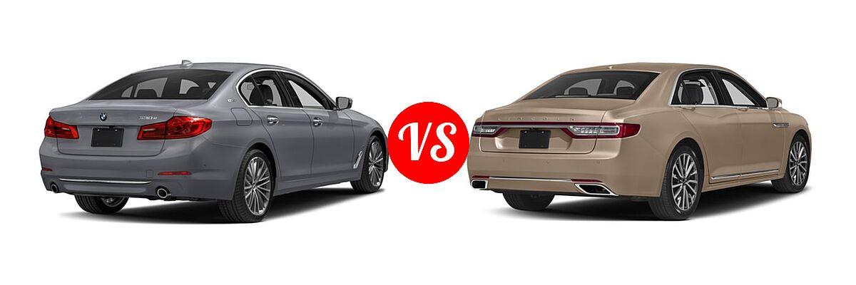 2018 Bmw 5 Series Hybrid Vs 2017 Lincoln Continental Rear Right Comparison