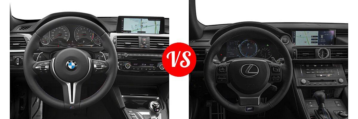 2018 BMW M4 Coupe Coupe vs. 2018 Lexus RC F Coupe RWD - Dashboard Comparison