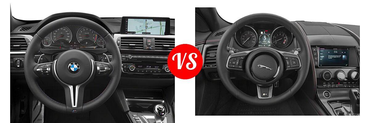 2018 BMW M4 Coupe Coupe vs. 2018 Jaguar F-TYPE Coupe R-Dynamic - Dashboard Comparison