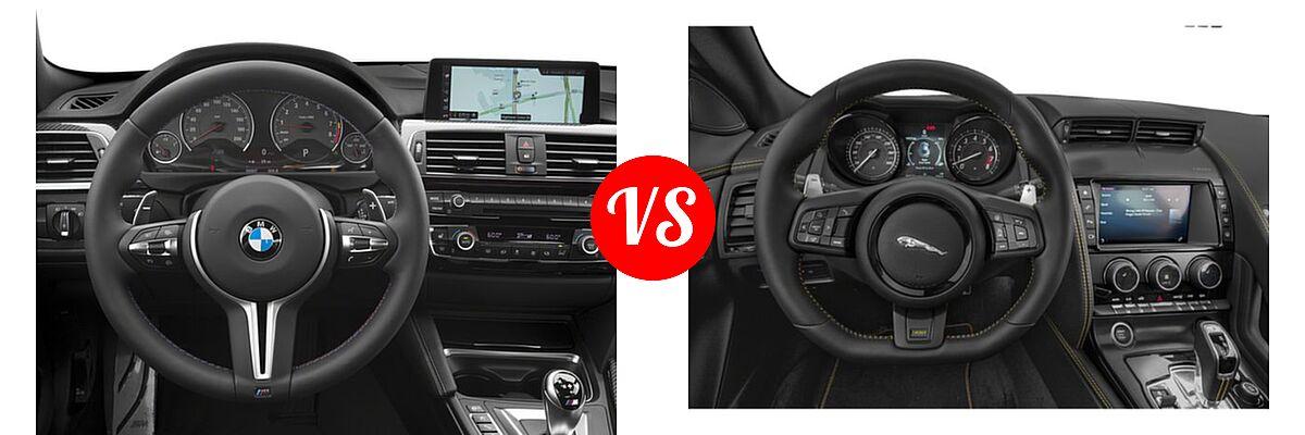 2018 BMW M4 Coupe Coupe vs. 2018 Jaguar F-TYPE Coupe 400 Sport - Dashboard Comparison