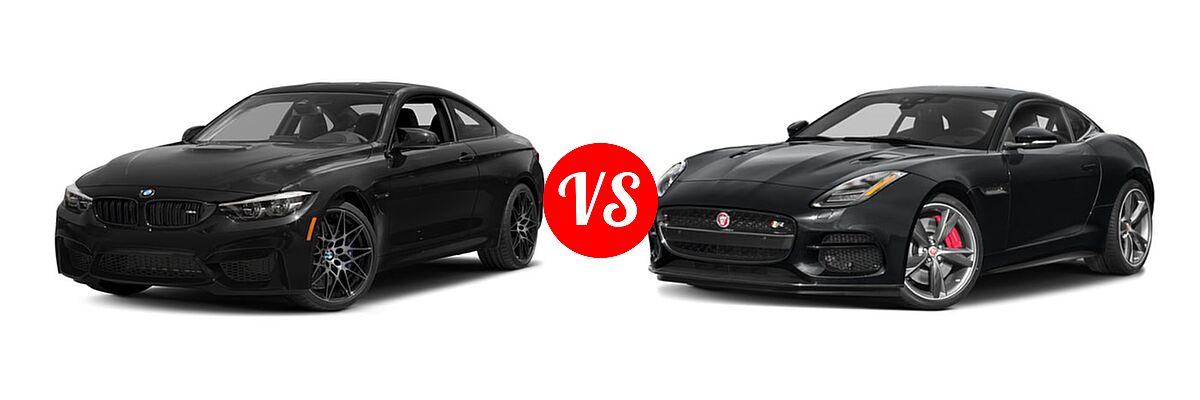 2018 BMW M4 Coupe Coupe vs. 2018 Jaguar F-TYPE Coupe R-Dynamic - Front Left Comparison