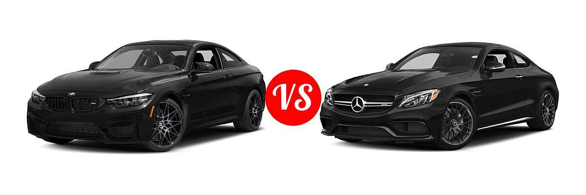 2018 BMW M4 Coupe Coupe vs. 2018 Mercedes-Benz C-Class AMG C 63 Coupe AMG C 63 - Front Left Comparison