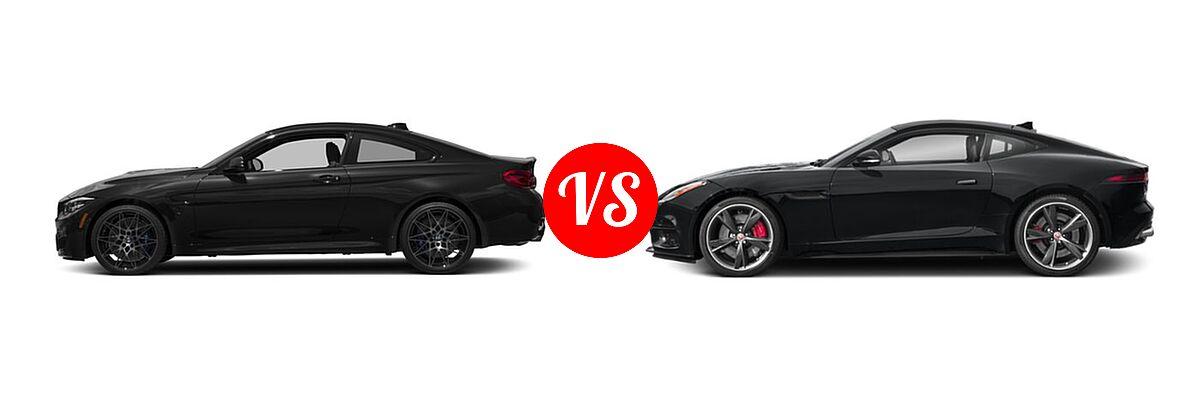 2018 BMW M4 Coupe Coupe vs. 2018 Jaguar F-TYPE Coupe R-Dynamic - Side Comparison