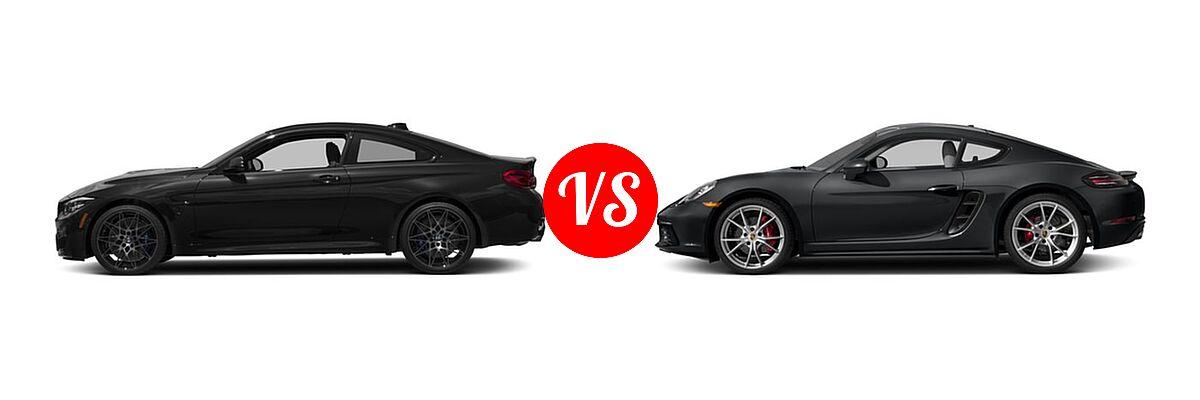 2018 BMW M4 Coupe Coupe vs. 2018 Porsche 718 Cayman Coupe S - Side Comparison