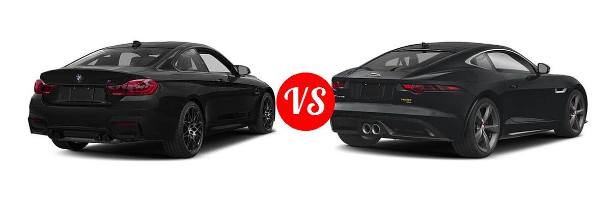 2018 BMW M4 Coupe Coupe vs. 2018 Jaguar F-TYPE Coupe 400 Sport - Rear Right Comparison