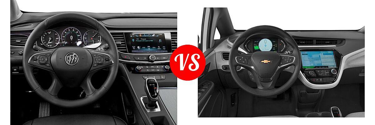 2018 Buick LaCrosse Sedan Hybrid Essence / Preferred / Premium vs. 2021 Chevrolet Bolt EV Hatchback Electric LT - Dashboard Comparison