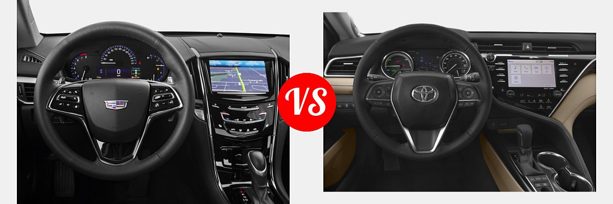 2018 Cadillac Ats Coupe Vs 2019 Toyota Camry Hybrid Vehie