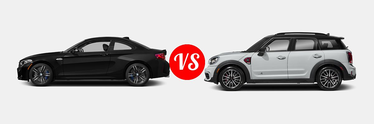 2017 Bmw M2 Vs 2018 Mini Countryman John Cooper Works All4 Vehiecom