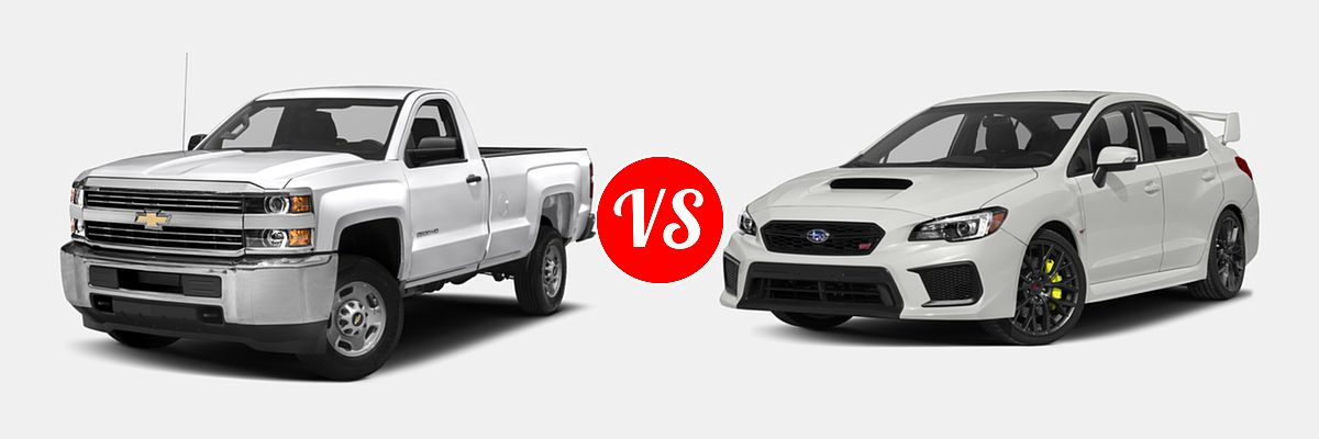 2018 Chevrolet Silverado 2500hd Pickup Lt Work Truck Vs Subaru Wrx Sti Sedan