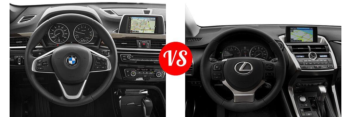2017 BMW X1 SUV sDrive28i / xDrive28i vs. 2017 Lexus NX 200t SUV NX Turbo - Dashboard Comparison