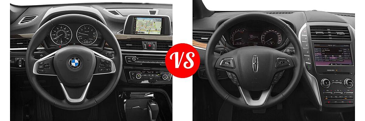 2017 BMW X1 SUV sDrive28i / xDrive28i vs. 2017 Lincoln MKC SUV Black Label / Premiere / Reserve / Select - Dashboard Comparison