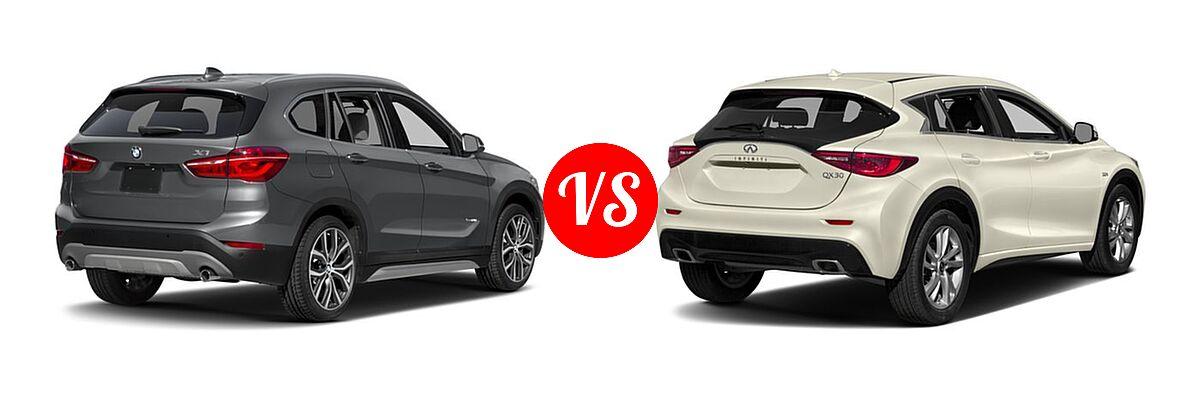 2017 BMW X1 SUV sDrive28i / xDrive28i vs. 2017 Infiniti QX30 SUV FWD / Luxury / Premium / Sport - Rear Right Comparison