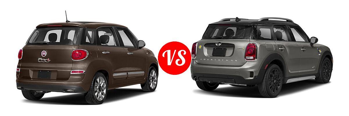 2018 FIAT 500L Wagon Lounge / Pop vs. 2018 MINI Countryman Wagon Hybrid Cooper S E - Rear Right Comparison