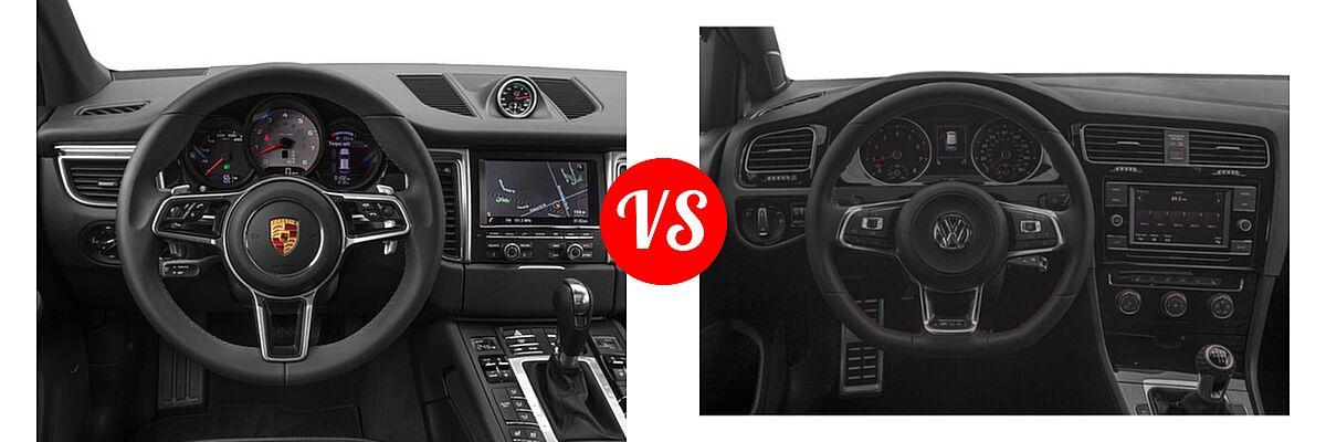 2017 Porsche Macan SUV GTS / S / Turbo vs. 2018 Volkswagen Golf GTI Hatchback Autobahn / S / SE - Dashboard Comparison