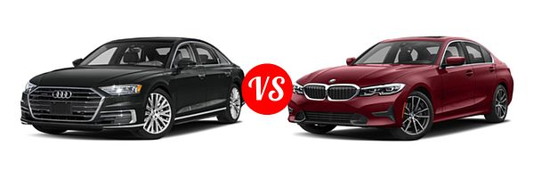 2019 Audi A8 vs. 2019 BMW 3 Series