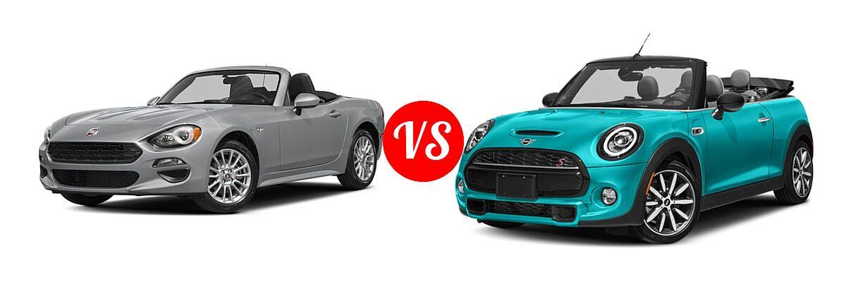 2019 FIAT 124 Spider Convertible Classica vs. 2019 MINI Convertible Convertible Cooper / Cooper S - Front Left Comparison