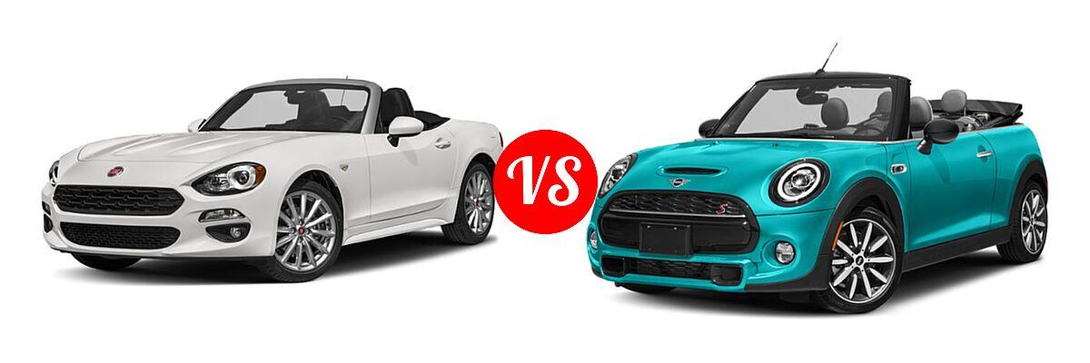 2019 FIAT 124 Spider Convertible Lusso vs. 2019 MINI Convertible Convertible Cooper / Cooper S - Front Left Comparison