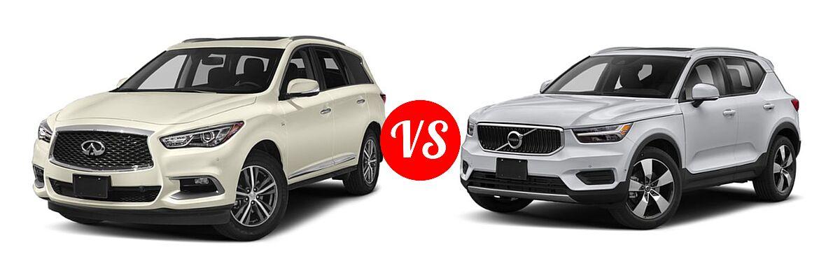 2019 Infiniti QX60 SUV LUXE / PURE vs. 2019 Volvo XC40 SUV Momentum / R-Design - Front Left Comparison