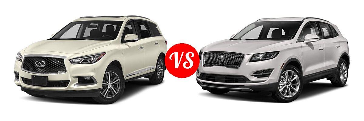 2019 Infiniti QX60 SUV LUXE / PURE vs. 2019 Lincoln MKC SUV Black Label / FWD / Reserve / Select / Standard - Front Left Comparison