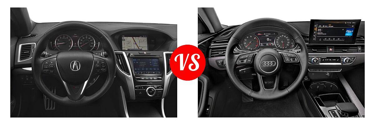 2019 Acura TLX Sedan w/A-SPEC Pkg / w/Technology Pkg vs. 2020 Audi A4 Sedan Premium / Premium Plus / Prestige - Dashboard Comparison