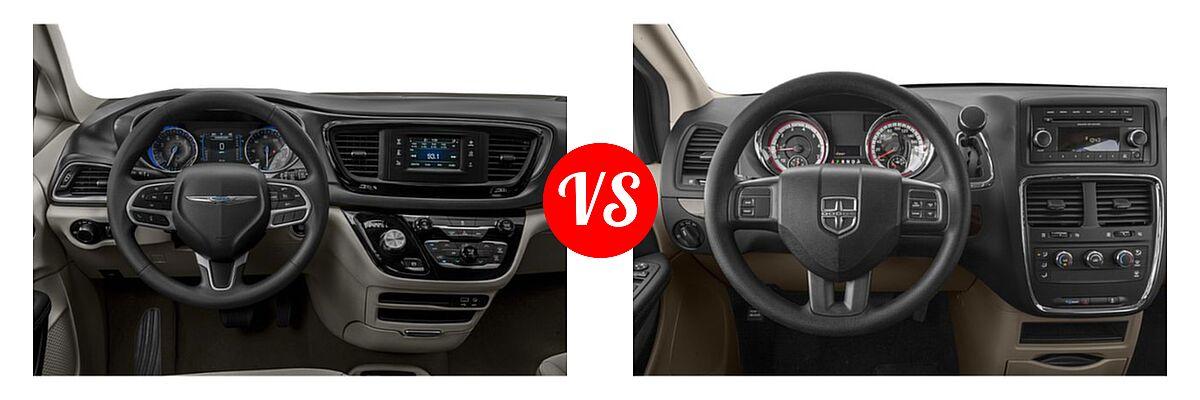2019 Chrysler Pacifica Minivan L / LX vs. 2019 Dodge Grand Caravan Minivan SE / SXT - Dashboard Comparison