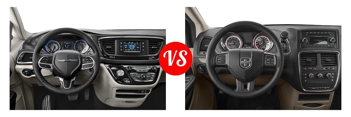2019 Chrysler Pacifica Minivan Limited / Touring L / Touring L Plus / Touring Plus vs. 2019 Dodge Grand Caravan Minivan SE Plus - Dashboard Comparison