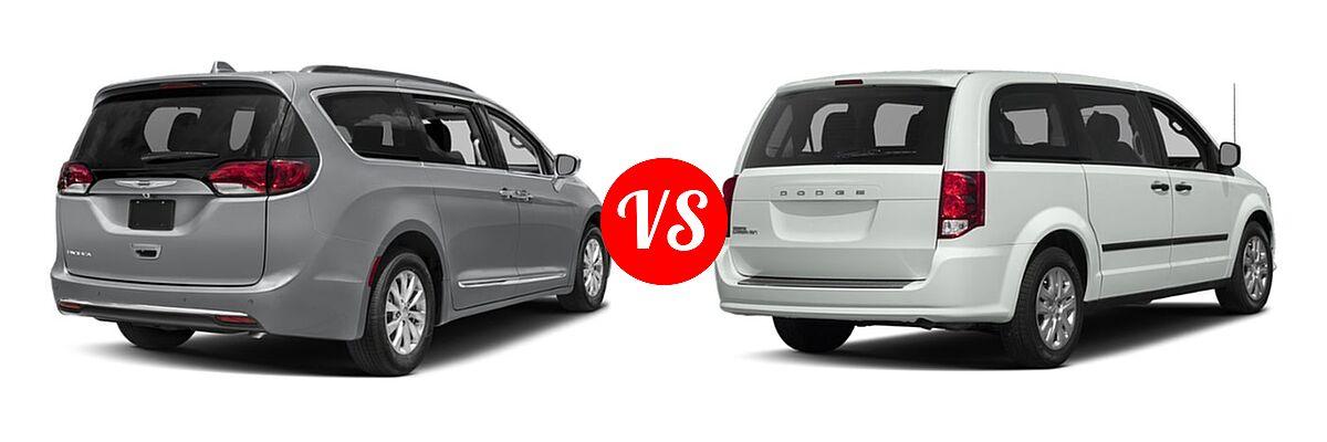 2019 Chrysler Pacifica Minivan Limited / Touring L / Touring L Plus / Touring Plus vs. 2019 Dodge Grand Caravan Minivan SE Plus - Rear Right Comparison