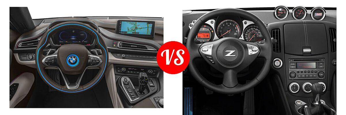 2019 BMW i8 Coupe PHEV Coupe vs. 2019 Nissan 370Z Coupe Auto / Manual / Sport / Sport Touring - Dashboard Comparison