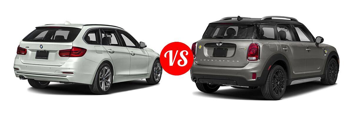 2019 BMW 3 Series Wagon 330i xDrive vs. 2019 MINI Countryman Wagon PHEV Cooper S E - Rear Right Comparison