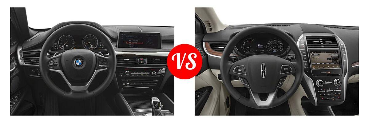 2019 BMW X6 SUV sDrive35i / xDrive35i / xDrive50i vs. 2019 Lincoln MKC SUV Black Label / FWD / Reserve / Select / Standard - Dashboard Comparison