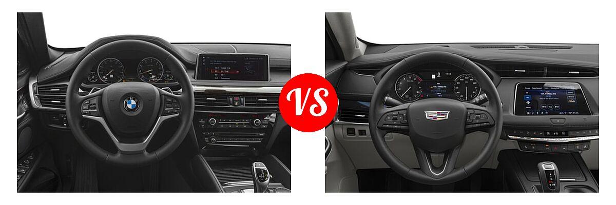 2019 BMW X6 SUV sDrive35i / xDrive35i / xDrive50i vs. 2019 Cadillac XT4 SUV AWD Luxury / AWD Premium Luxury / AWD Sport / FWD Luxury / FWD Premium Luxury / FWD Sport - Dashboard Comparison