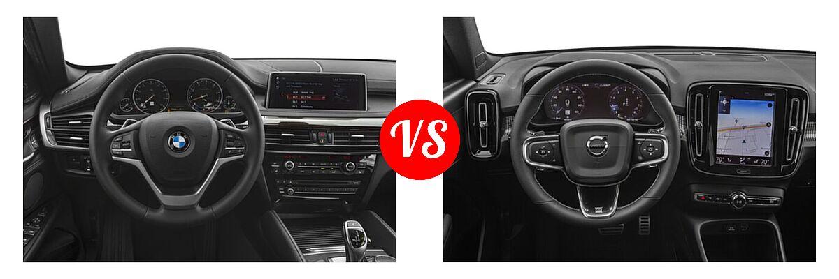2019 BMW X6 SUV sDrive35i / xDrive35i / xDrive50i vs. 2019 Volvo XC40 SUV R-Design - Dashboard Comparison
